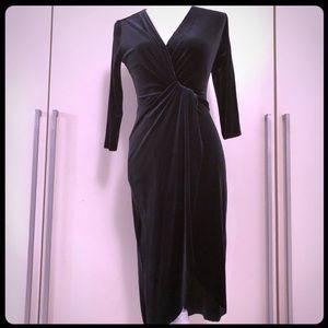 Zara velvet dress